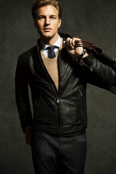 dressing up a leather jacket