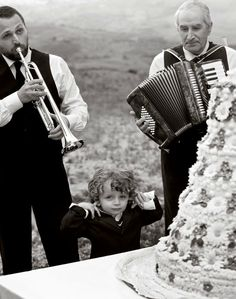 'Sicilian Wedding' - Vanity Fair Italy, July 2011. Accordion players were always at Italian weddings I attended as a child.