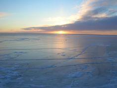 Great Bear Lake Northwest Territories slowly freezes over