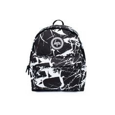 Black Marble Backpack by Hype (135 RON) ❤ liked on Polyvore featuring bags, backpacks, black, day pack backpack, knapsack bag, daypack bag, marble bag and hype rucksack