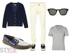 Men's white jeans outfit