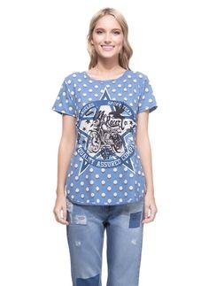 t-shirt ribana estampada