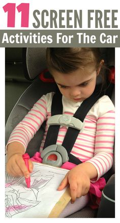 screen free road rip activities for kids. Perfect for holiday travel!