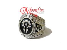Gain the force of the Horde with this Horde symbol ring! The stainless steel ring is a size US 10.