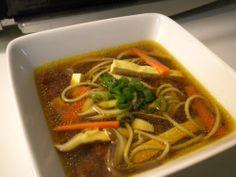 Soba-Miso Soup with Shiitake and Tofu...Vegan Eats