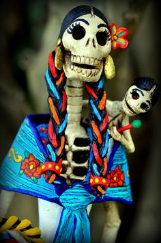 Catrina - symbol of the Days of the Dead Mother and child by el_catrinero, via Flickr