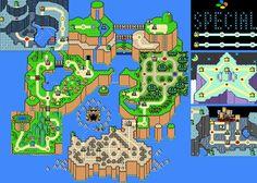 Super Mario World [SNES]. World map | Video Games | Pinterest ...