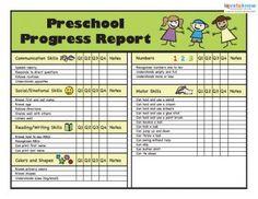 Preschool Progress Reports 2 Thumb