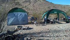PahaQue ScreenRoom and Cottonwood Shade Shelter  #camping  #desert  #arizona  #pahaque