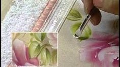 Como Pintar : Gotas de Orvalho | Cantinho do Video One Stroke Painting, Painting Videos, Painting Lessons, Mandala Painting, Tole Painting, Fabric Painting, Laura Rodrigues, Rose Tutorial, Silk Ribbon Embroidery