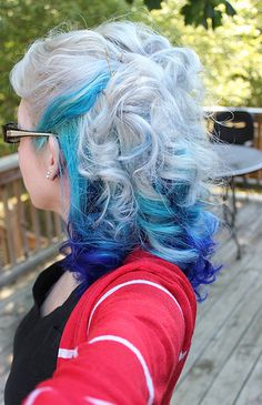 Blue Hair✶ #Hairstyle #Colorful_Hair #Dyed_Hair