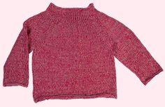 Blusen er strikket i dobbelt garn i to forskellige nuancer, hvis du vælger at lave den ensfarvet, kan du spare 1 ngl garn.