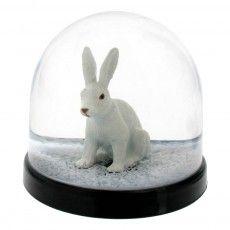 Schneekugel Hase
