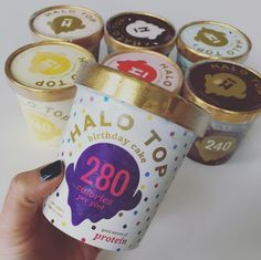 Halo Top Ice Cream - No recipe needed. At 280 calories per pint, I can eat the whole thing and not feel awful. Birthday Cake and Lemon Cake are BAE.