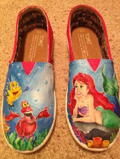 Disney Shoes by GeppettosWorkshop on Etsy, $150.00  Or...@Emily Daniels can make them for you at a far better price and with some additional flare.