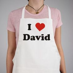 Personalized I Love You Valentine Apron - Gifts Happen Here