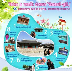 Official Site of Korea Tourism Org.: Take a walk down 'Seoul-gil,' pathways full of living, breathing history!