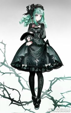 --> ✙✞~Gothic theme Lolita dress~✙✞ design, it will be made into real dress [Designer: weibo Kawaii Anime, Anime Girl Neko, Chica Anime Manga, Manga Girl, Anime Art, Anime Girls, Lolita Anime, Gothic Anime Girl, Gothic Girls