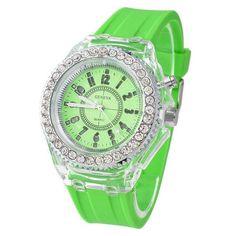 Quartz Luminous LED Sport Watches for Women. Big Watches, Best Watches For Men, Sport Watches, Cool Watches, Wrist Watches, Led Watch, The Dark Crystal, Digital Watch, Quartz Watch