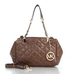 Michael Kors Susannah Quilted Leather Medium Brown Totes