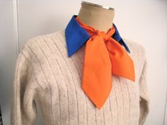 Mens Ascot, Orange: be Fred from Scooby-Doo for your Halloween costume on Etsy, $11.00