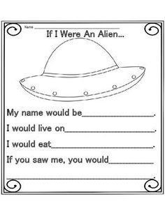 Image result for alien story primary writing