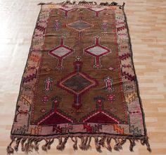 Natural Dye HANDKNOTTED Turkish Kars Carpet Rug w Matching Pillows 8'8 x 5'1 | eBay