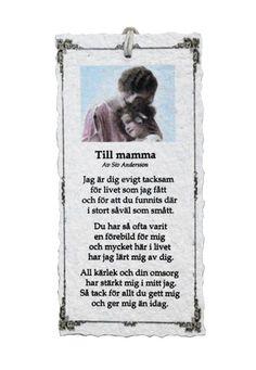 Till mamma - Diktkort 1