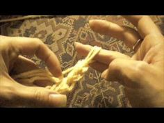 This shows you how to start a chain, to turn your work and make a single stitch with just your fingers. No needles!