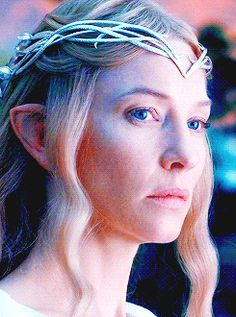 Look, @Natalie - Galadriel is not impressed with how rude the dwarves are to Thranduil.  :)