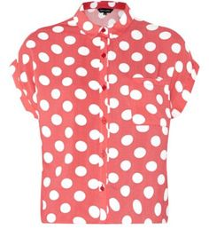 497e7c8c4dd50 Red Polka Dot Short Sleeve Boxy Shirt Polka Dot Shorts