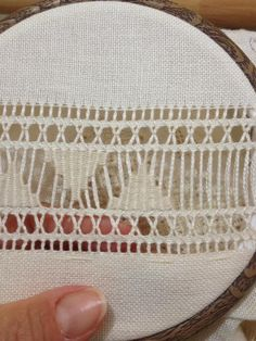 Nitka Czarodziejka: A robiło się to tak. Hand Embroidery Flowers, Hand Embroidery Designs, Embroidery Patterns, Hardanger Embroidery, Diy Embroidery, Cross Stitch Embroidery, Monks Cloth, Drawn Thread, Embroidered Bag