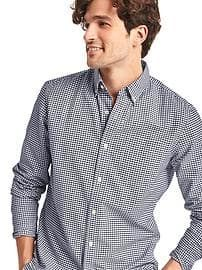 Oxford micro gingham standard fit shirt Size Medium GAP Comet Blue | for Jim