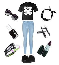 """""""CALUM HOOD: THE BASSIST"""" by musiclover1217 ❤ liked on Polyvore featuring Converse, 7 For All Mankind, Essie and Vince Camuto"""