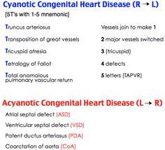 cyanotic and acyanotic heart defects Acyanotic Congenital Heart Defects … | Pinteres…