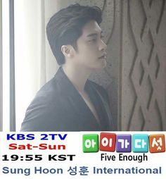 "Sung Hoon KBS2 TV weekend drama ""Five Enough (Five Children)"" 19:55 Pls support more details pls go to Sung Hoon International Fanpage:    Https://www.facebook.com/SungHoonBang/Fanpage"