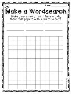Free spelling activities perfect for any spelling or sight word word work center! Spelling Practice, Spelling Activities, Word Work Activities, Spelling Ideas, Spelling Homework, Literacy Activities, Year 6 Spelling Words, Year 6 Maths Worksheets, Free Spelling Games