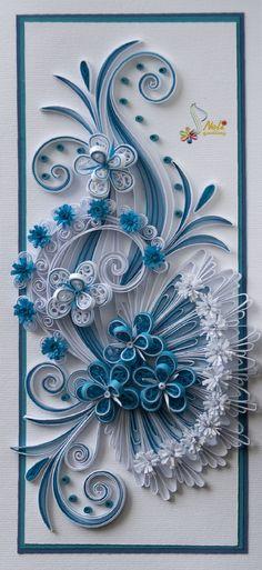 neli: Quilling card - flowers ( 9.5 cm - 20 cm )