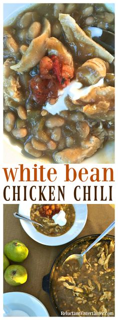 White Bean Chicken Chili recipe is delicious for any cozy potluck or gathering…