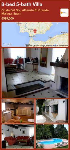 8-bed 5-bath Villa for Sale in Costa Del Sol, Alhaurin El Grande, Malaga, Spain ►€599,000
