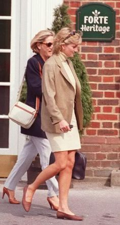 May 6, 1996: Princess Diana with Susie Kassem have lunch at the Compleat Angler in Marlow, Bucks.