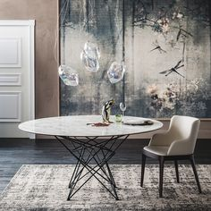 Gordon Keramik round table by Cattelan Italia