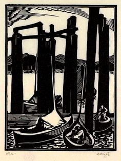 HOLGATE, Edwin, (1892-1977) Canadian artist: -- '