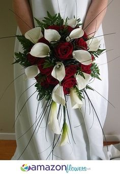 Bridal Bouquets, Wedding Flowers Online, Wedding Flower Arrangements, Wedding Bouquets, DIY Flowers | Amazonflowers.us $108