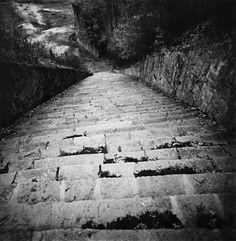 Quarry Steps, (Death Staircase), Mauthausen, Austria, 1995. Michael Kenna