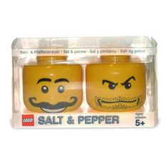 - I am on a LEGO kick today. Did you know you could spice up your next meal with LEGO salt and pepper shakers? Plus, the LEGO salt and . Legos, Salt N Peppa, Lego Head, Amazing Lego Creations, Salt And Pepper Set, Cool Lego, Awesome Lego, Salt Pepper Shakers, Legoland