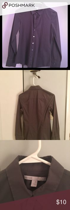 Dark gray Old Navy Blouse - WORN ONE TIME-Like NEW Purchased from to Old Navy - I wore just ONE TIME ONLY ! It is in like new condition🌸 Dark gray in color . Size small . Bundle with two or more other items from my closet and save an automatic 20% or offers are always welcome and considered 😄 Old Navy Tops Blouses
