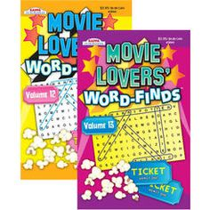 Kappa Movie Lovers' Word Finds Puzzle Book - Digest Size Case Pack 24 Puzzle Books, Love Movie, Lovers, Kappa, Words, Puzzles, Products, Puzzle, Beauty Products