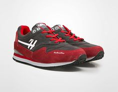 Suede Leather Red by HRCN. A comfotable and cozy running shoes in red with contrasting vibrant color. Crafted from suede as fabric in red color. A perfect pair of sneakers shoes for you who has free spirit. http://www.zocko.com/z/JKKEG