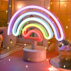 Cute Bedroom Decor, Room Ideas Bedroom, Neon Room Decor, Pastel Room Decor, Unicorn Bedroom Decor, Kids Bedroom, Rainbow Bedroom, Pastel Bedroom, Kid Spaces